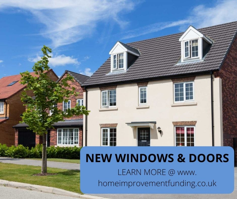 new windows and doors installed as home improvement for 2021