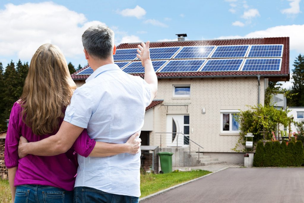 home owners happy with new solar panel funding incentive install