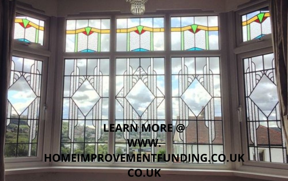high quality stained glass double glazed windows as home improvement